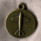 Vintage Charm : Brass Airplane - Scalloped Edges