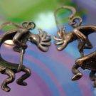 vintage KOKOPELLI FLUTE PLAYER FERTILITY DANCER EARRINGS : STERLING by MASHA