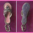 Sterling & Gems & Pink Enamel FLIP FLOP SANDAL CHARM #12