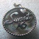 "Vintage ""Sweet 16"" Birthday Charm : BOWL-LIKE by MONET"