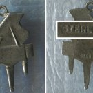 Vintage Music Charm : Sterling Silver Signed FLAT Piano Charm #1 - Unk. Hallmark