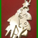 vintage CHRISTMAS HOLIDAY CHARM : Father & Son Christmas Tree Celebration