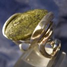Sz 6 Ring By Nf Sterling 925 Silver Great Setting Unknown Green Stone