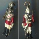 Vintage Enamel Charm : Queen's Guard / Life Guards Regiment Officer