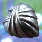 "Vintage Sterling Silver SU THA ""Broken Now Mended or Healed"" Puffy Heart Pendant"