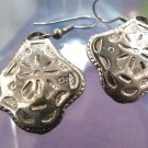 Sheppard's Hook Earrings Sand Dollar Design ~~ Designer Signed PD Premier Design