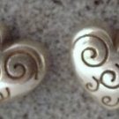 Post Earrings : BRIGHTON 10mm HEART PIERCED POST STUD EARRINGS