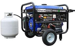 GENERATOR PORTABLE HYBRID DUAL FUEL PROPANE OR GAS CAMPING RV LOW OIL SHUT OFF