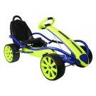 PEDAL CAR KID RACER YELLOW SPORT RACING SEAT POWDER COAT FINISH COASTING LEVER