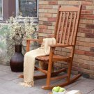Rocking Chair Contour Seat Oil Stained Acacia Natural Hardwood Indoor Outdoor