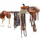 HORSE SADDLE RACK DOUBLE LARGE EQUINE STORAGE WALL MOUNT TACK RIDING EQUIPMENT