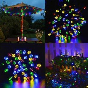 LIGHTS LED FAIRY COLOR SOLAR GARDEN BACKYARD DECORATIVE PATIO PARTY HEDGE TREE