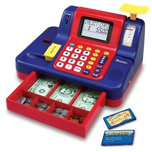 TEACH MONEY BUYING SELLING PRODUCTS CASH REGISTER COUNTING MATH SKILLS GOODS