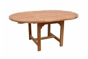 Table Leaf 67 Inch Oval PopUp Butterfly Extension Anderson Teak Seats 8 People