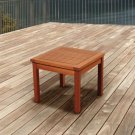 SIDE TABLE SQUARE NATURAL EUCALYPTUS WOOD WEATHER AND UV RESISTANT CONTEMPORARY