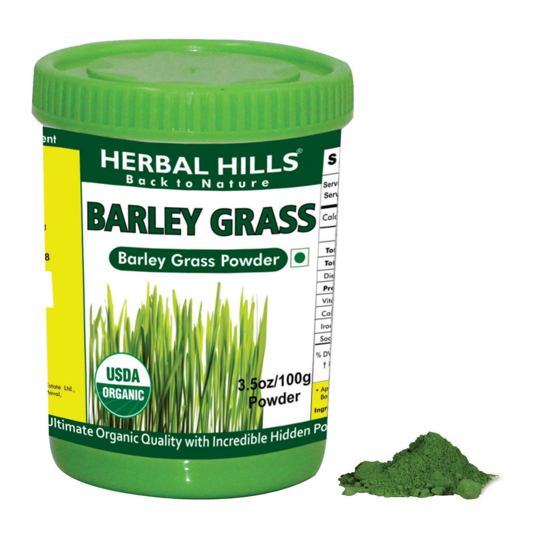 Organic Barley Grass hordeum vulgare 3.5 oz/100 gms powder