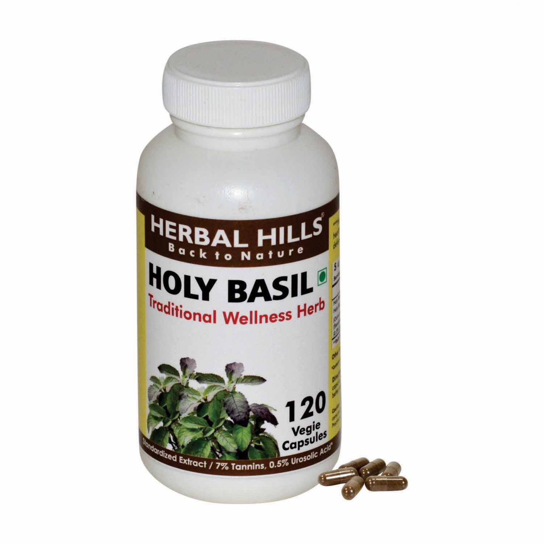 Tulsi Holy Basil ocimum sanctum 120 Vegie Capsules