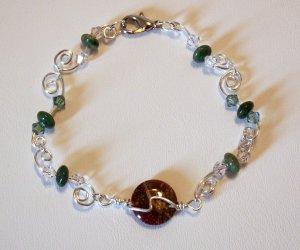 Rainbow Jasper and African Jade Bracelet   SRAJD