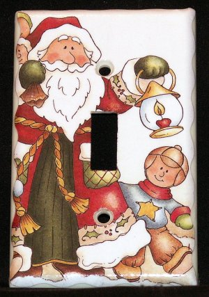 Old World Santa with Lantern Light Switch Plate Cover