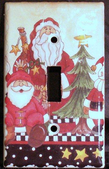 2 Santas Light Switch Plate Cover