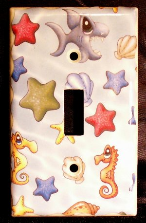 Aquatic Light Switch Plate Cover