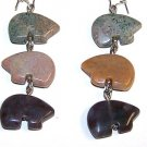 Fancy Jasper Zuni Bear Earrings