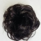 Synthetic Elastic Scrunchie curly bun in black