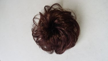 Synthetic Elastic Scrunchie Curly Bun in brown