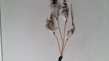 Dyed feather Iron snap hair clips