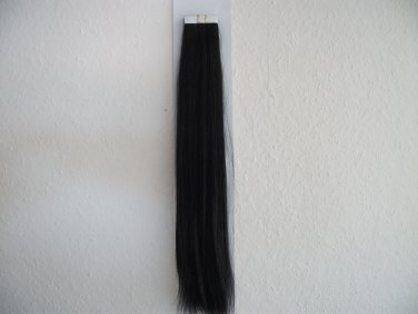 "16"" Human Pu/Tape in hair extension in grade 7A in colour black"
