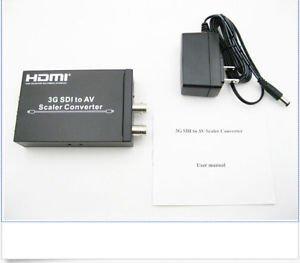 SD HD & 3G SDI to Composite RCA Video + L/R Analog Stereo Audio Converter Scaler