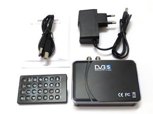 USB 2.0 Digital Dvb-s Satellite Tv Tuner Recording Hdtv Box for Pc Notebook