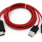 MHL Micro USB HDMI AV TV Cable Adapter For Samsung Galaxy Tab 3 8.0 SM T310 T320