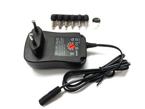 EU DC MAINS POWER ADAPTOR/SUPPLY/PSU/CHARGER 1500MA/1A 3V/4.5V/5V/6V/7.5V/9V/12V