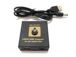 HDMI v1.4 ARC Adapter to hdmi & Optical Audio Converter Dolby Decoder 4k 3d CEC