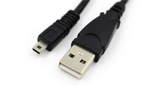USB DC Battery Charger Data Cable Cord for Nikon CoolPix S32, P530, P600