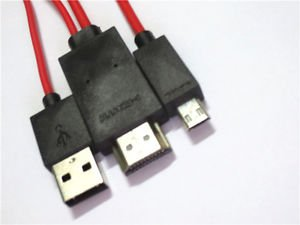 """MHL Micro USB HDMI AV TV Adapter Cable For Samsung Galaxy Tab S 10"""" SM-T800 T805"""