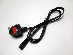 UK PLUG 2-Prong Port AC Power Cord/Cable for PS2 PS3 Slim 5FT 1.5m