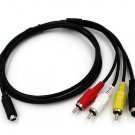AV A/V TV Video Cable Cord Lead For Sony Camcorder DCR-HC18E HC19E HC20E