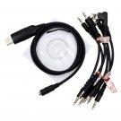 6 in 1 USB Programming Cable For KENWOOD Handheld Radio TK-373G TK-378 TK-378G