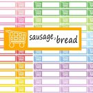 To Buy Shopping Printable PDF Decorative Calendar Planner Stickers Labels