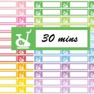 Fitness Spinning Bike Gym tracker Printable Decorative Calendar Planner Stickers Labels