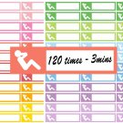 Fitness Sit Up Exercise Printable Decorative Calendar Planner Stickers Labels