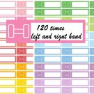 Fitness Gym Dumbbell Printable Decorative Calendar Planner Stickers Labels