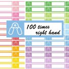 Fitness Handgrip Exercise Printable Decorative Calendar Planner Stickers Labels