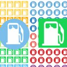 Fuel Gas Icon Gasoline Printable PDF Decorative Planner Stickers