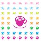 Cappuccino Icon Printable PDF Decorative Planner Stickers