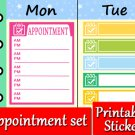 Appointment Printable Planner Decorative Stickers Color Labels Set PDF