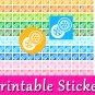 Tire Change Icon Printable PDF Decorative Planner Stickers