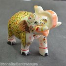 """5"""" Marble Elephant Golden Color Hand Painted Handmade Home Decor Gifts Arts"""